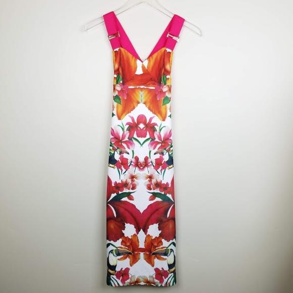 aeb1f11c10ca2 Ted Baker Jameela Tropical Dress. M 5bda393ac617773c2dc5a8df